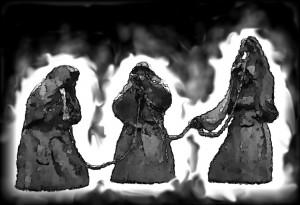 Die Nornen, nach den Statuen vor dem Viking-Center, Ribe