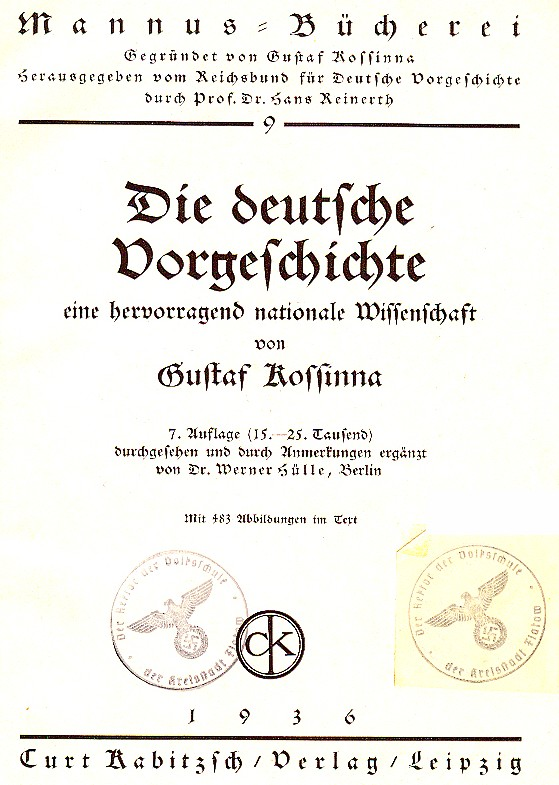 """""""Die deutsche Vorgeschichte"""" Titelbild"""