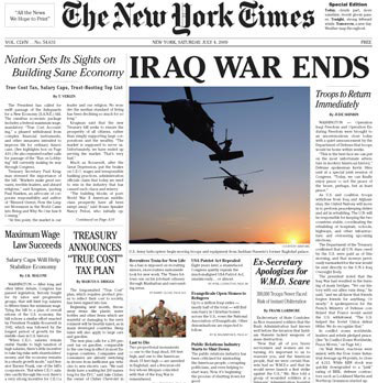 New York Times Special Edition 4.7.2009