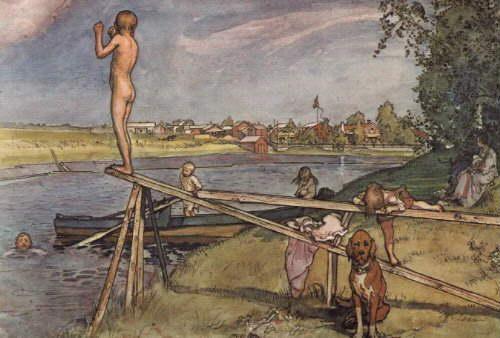 Larsson: Sommerliches Bad
